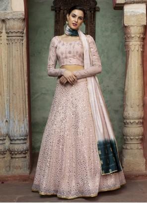 Fancy Reception Pink Lehenga Choli