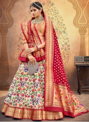 Fancy Silk Lehenga Choli in Multi Colour