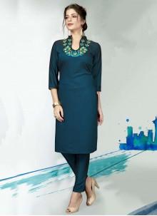 Fancy Viscose Blue Designer Kurti