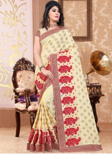 Fantastic Patch Border Work Designer Traditional Saree