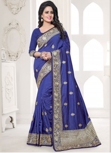 Fascinating Blue Designer Traditional Saree