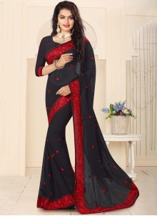 Fascinating Resham Work Classic Designer Saree