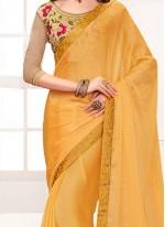 Fashionable Yellow Casual Saree