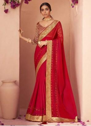 Faux Chiffon Ceremonial Classic Designer Saree
