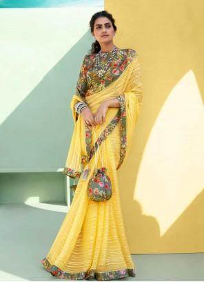 Faux Chiffon Classic Designer Saree
