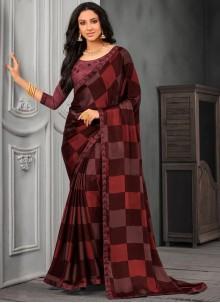 Faux Chiffon Designer Saree in Multi Colour
