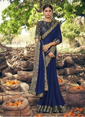 Faux Chiffon Lace Classic Designer Saree