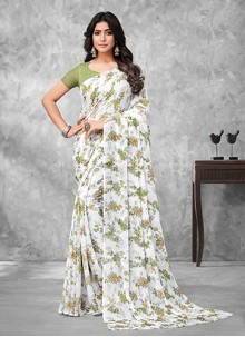 Faux Chiffon Multi Colour Traditional Saree