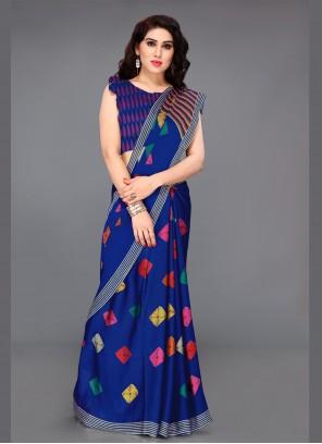 Faux Chiffon Printed Multi Colour Bollywood Saree
