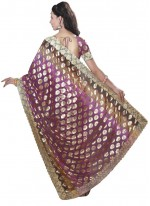 Faux Chiffon Rani Designer Traditional Saree