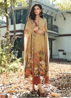 Faux Crepe Multi Colour Digital Print Designer Palazzo Salwar Suit