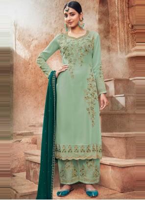 Faux Georgette Ceremonial Designer Pakistani Salwar Suit