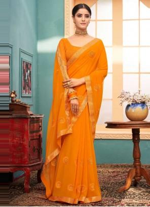 Faux Georgette Classic Designer Saree