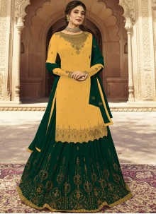 Faux Georgette Embroidered A Line Lehenga Choli