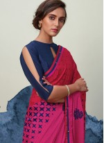 Faux Georgette Party Printed Saree