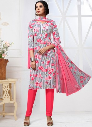 Faux Georgette Printed Multi Colour Pant Style Suit