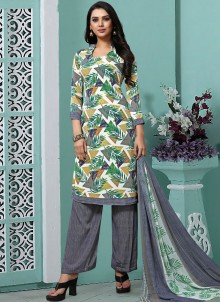 Faux Georgette Printed Multi Colour Trendy Pakistani Salwar Kameez