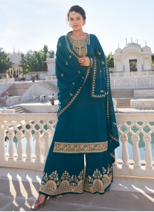 Faux Georgette Rama Readymade Suit
