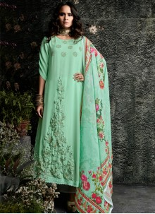 Faux Georgette Resham Work Designer Suit