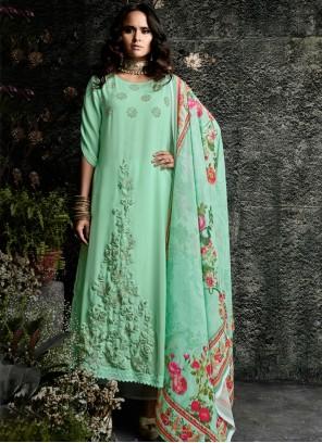 Faux Georgette Resham Work Designer Suit