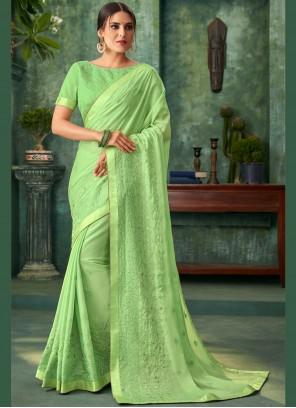 Faux Georgette Zari Traditional Designer Saree