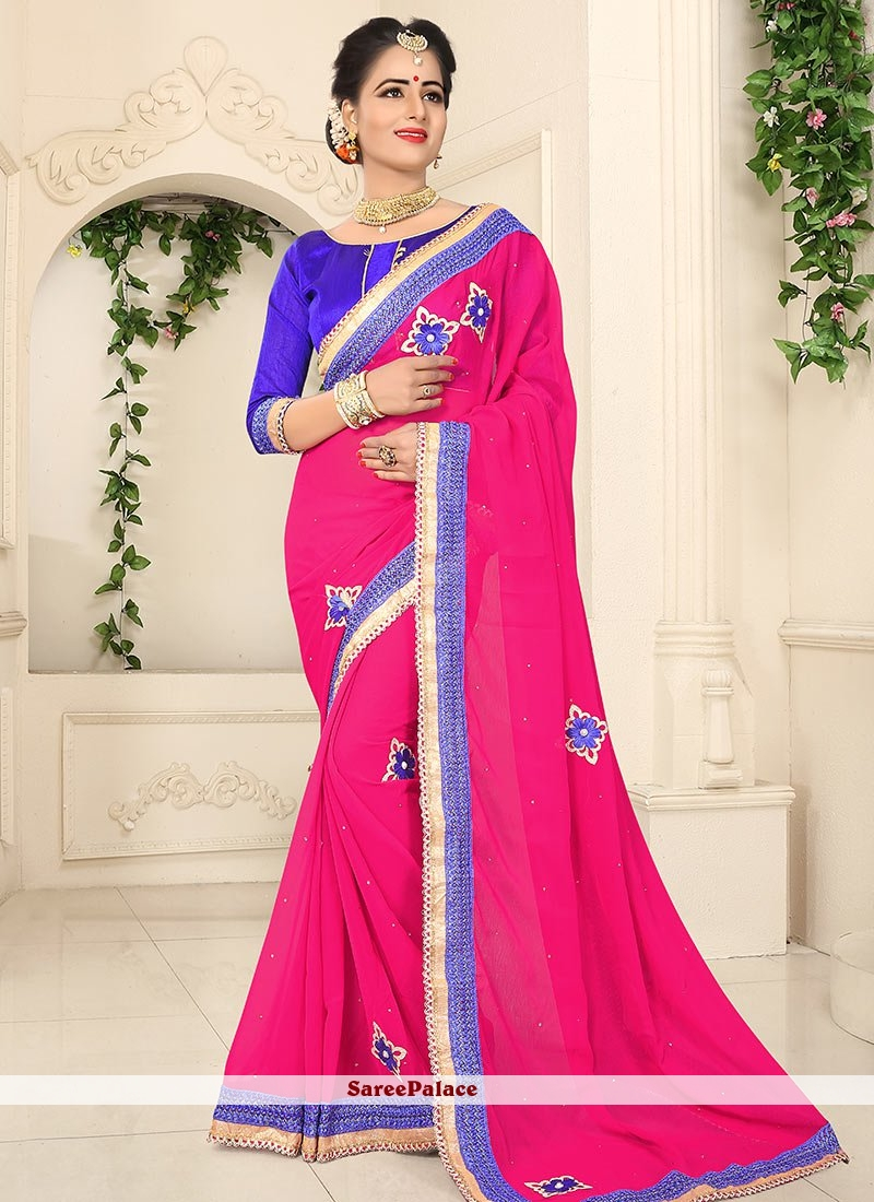 Fetching Embroidered Work Classic Saree