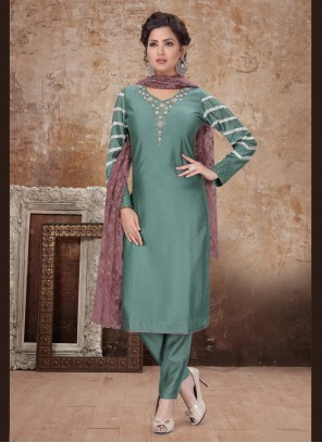 Firozi Embroidered Trendy Salwar Suit