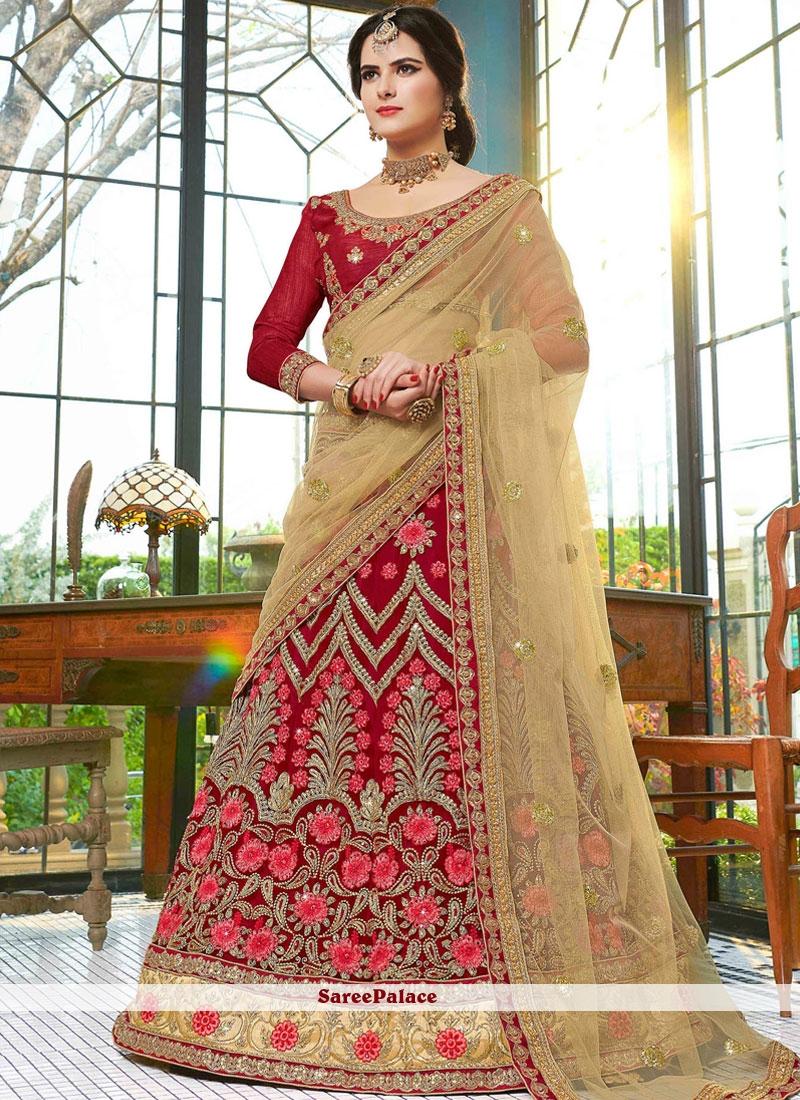 717912b879 Buy Flamboyant Banarasi Silk Zari Work Lehenga Choli Online