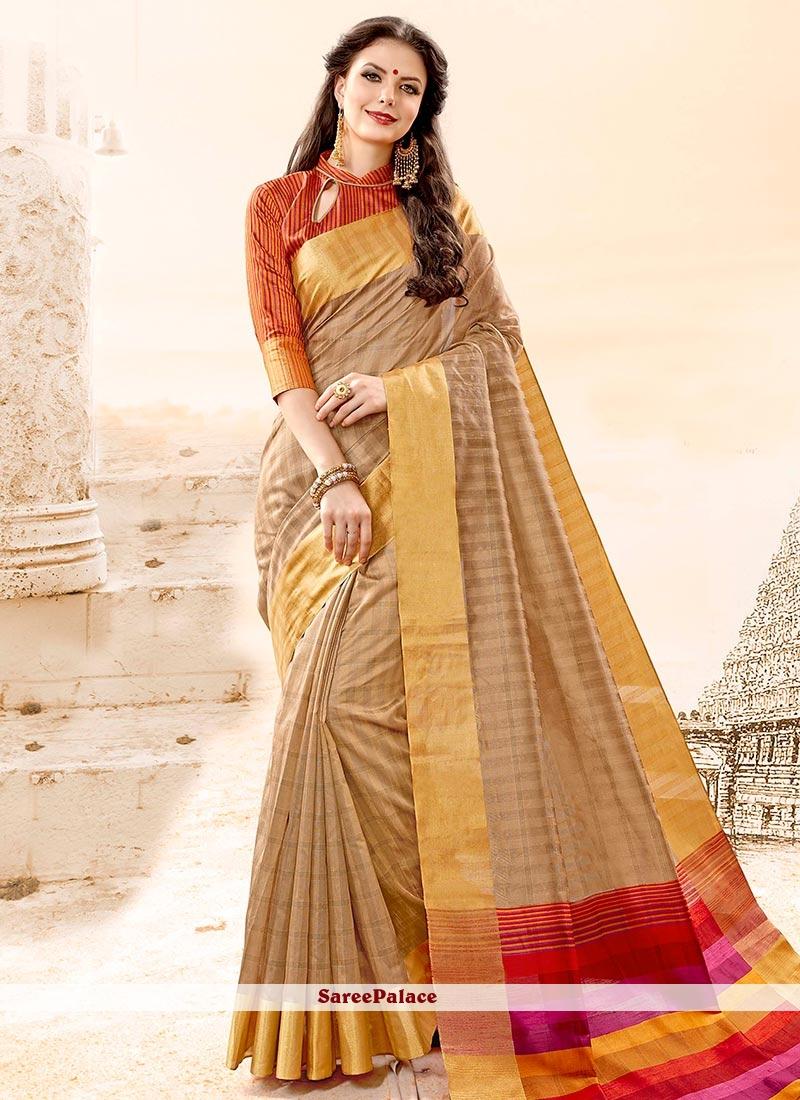 Flamboyant Cotton Silk woven Work Traditional  Saree