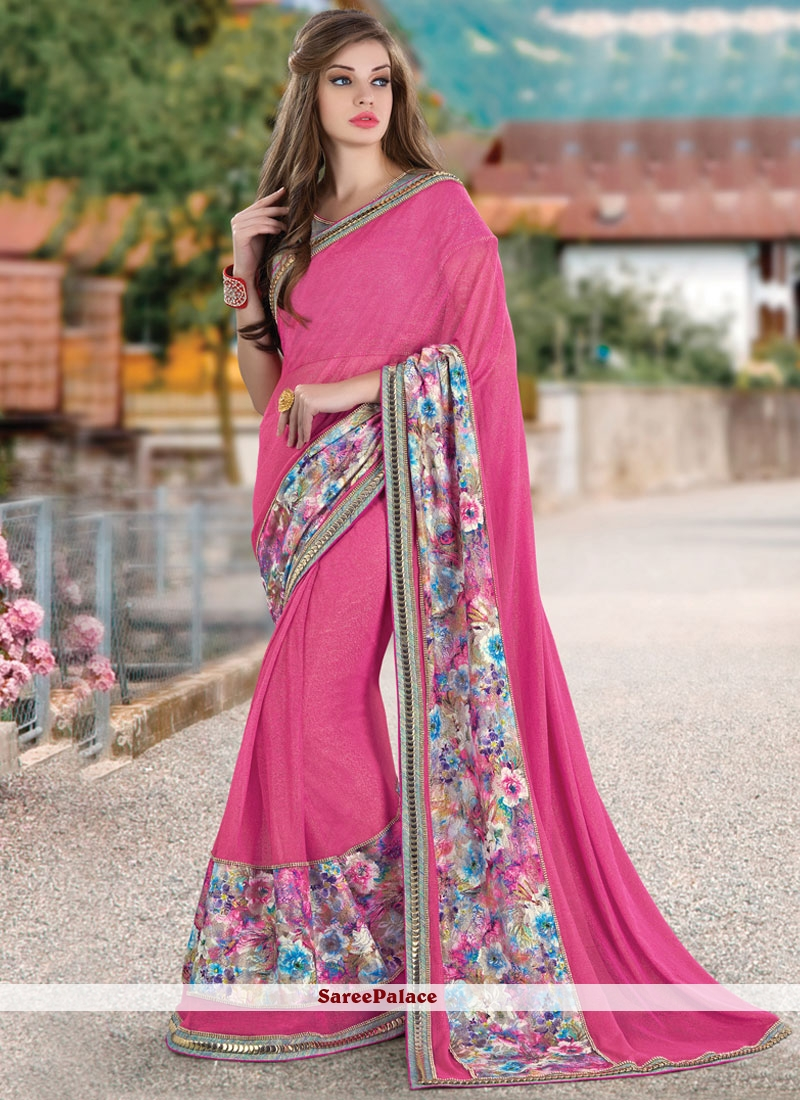 Flattering Patch Border Work Classic Saree