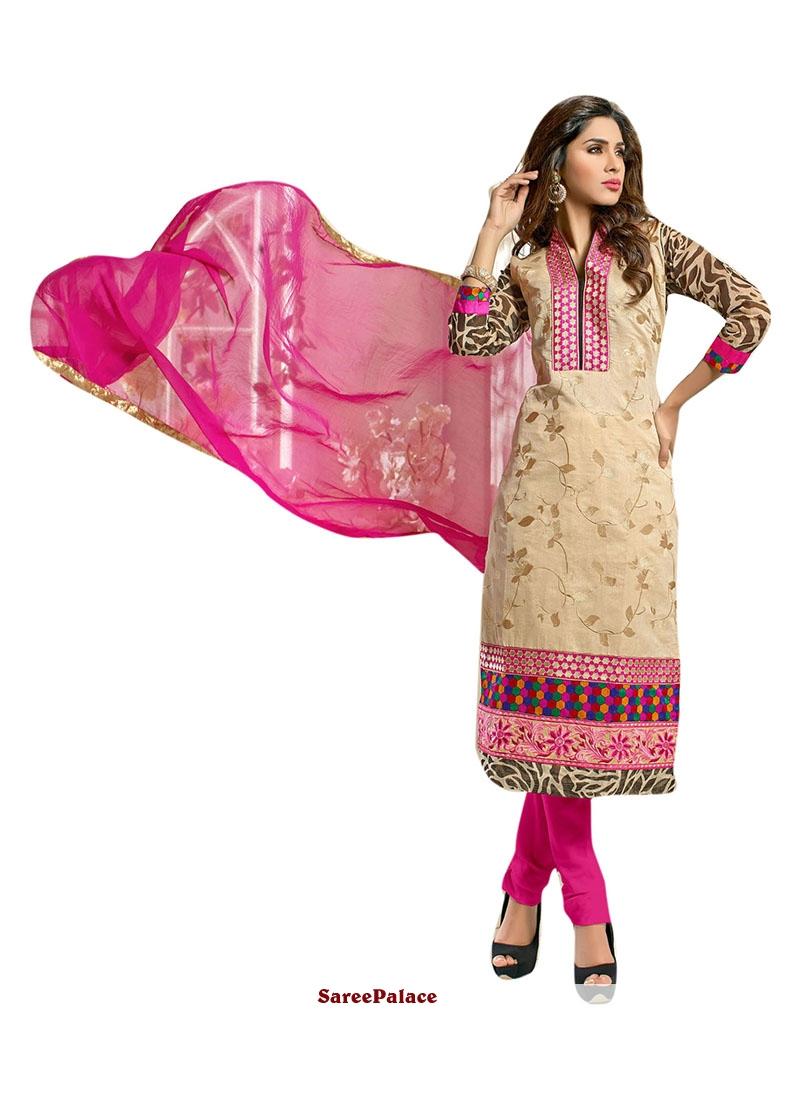 Flawless Chanderi Churidar Suit