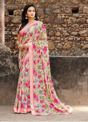 Floral Print Festival Saree