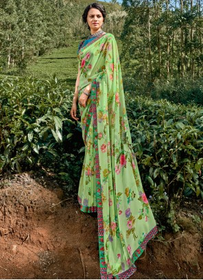 Floral Print Multi Colour Saree