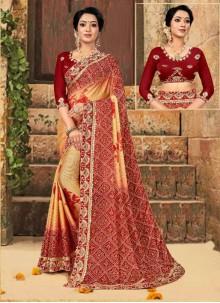 Multi Colour Foil Print Ceremonial Classic Saree