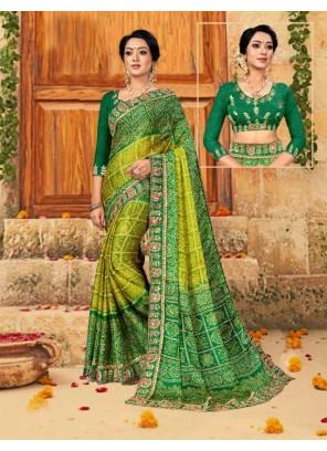 Foil Print Multi Colour Saree