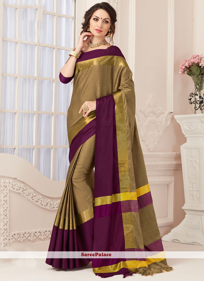 Genius Art Silk woven Work Traditional Designer Saree