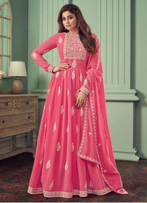 Pink Georgette Anarkali Salwar Kameez