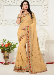 Georgette Beige Saree