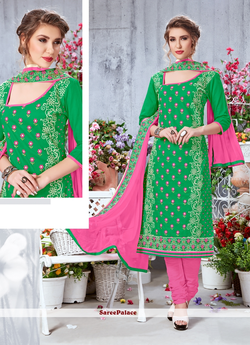 Georgette Butta Work Churidar Salwar Kameez