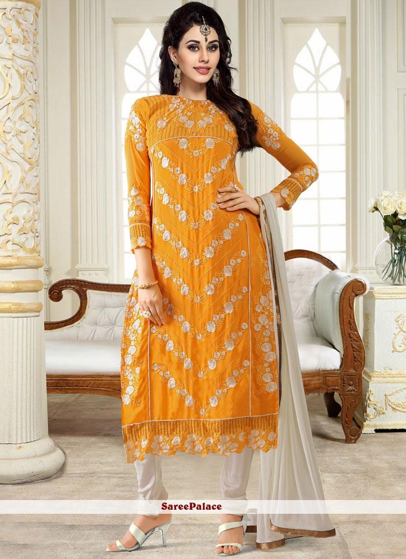 Yellow Casual Churidar Designer Suit