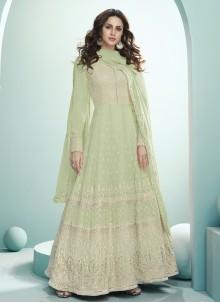 Green Georgette Ceremonial Desinger Anarkali Salwar Suit