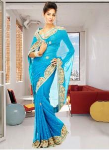 Georgette Classic Designer Saree in Blue