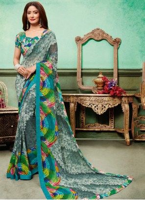 Georgette Classic Designer Saree in Multi Colour