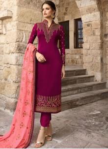 Georgette Designer Salwar Kameez in Magenta