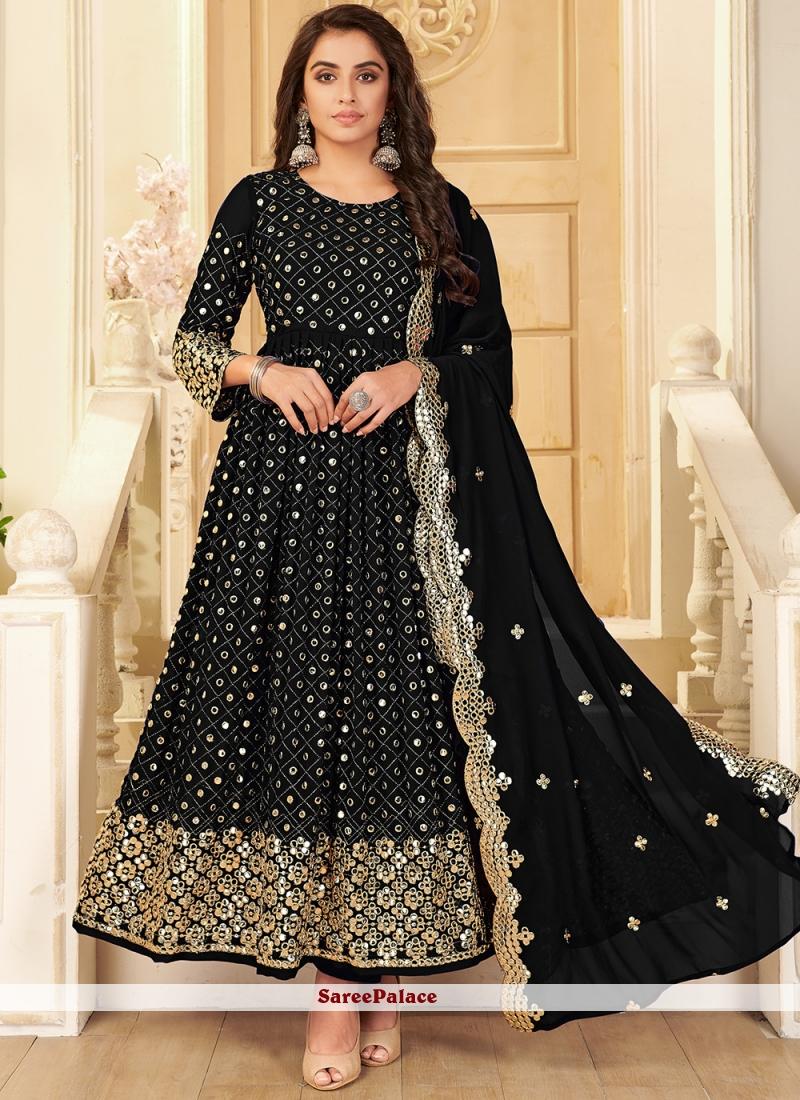 Black Georgette Designer Salwar Suit