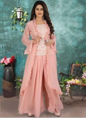 Georgette Designer Suit in Pink