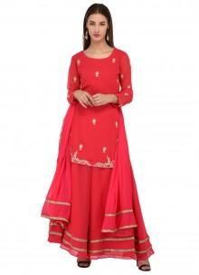 Pink Georgette Readymade Salwar Suit