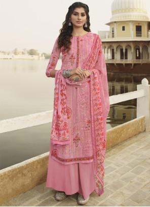 Georgette Embroidered Bollywood Salwar Kameez in Pink