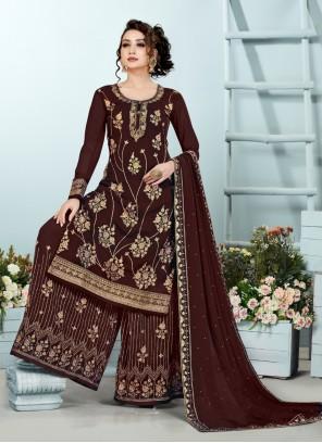 Georgette Embroidered Designer Pakistani Suit