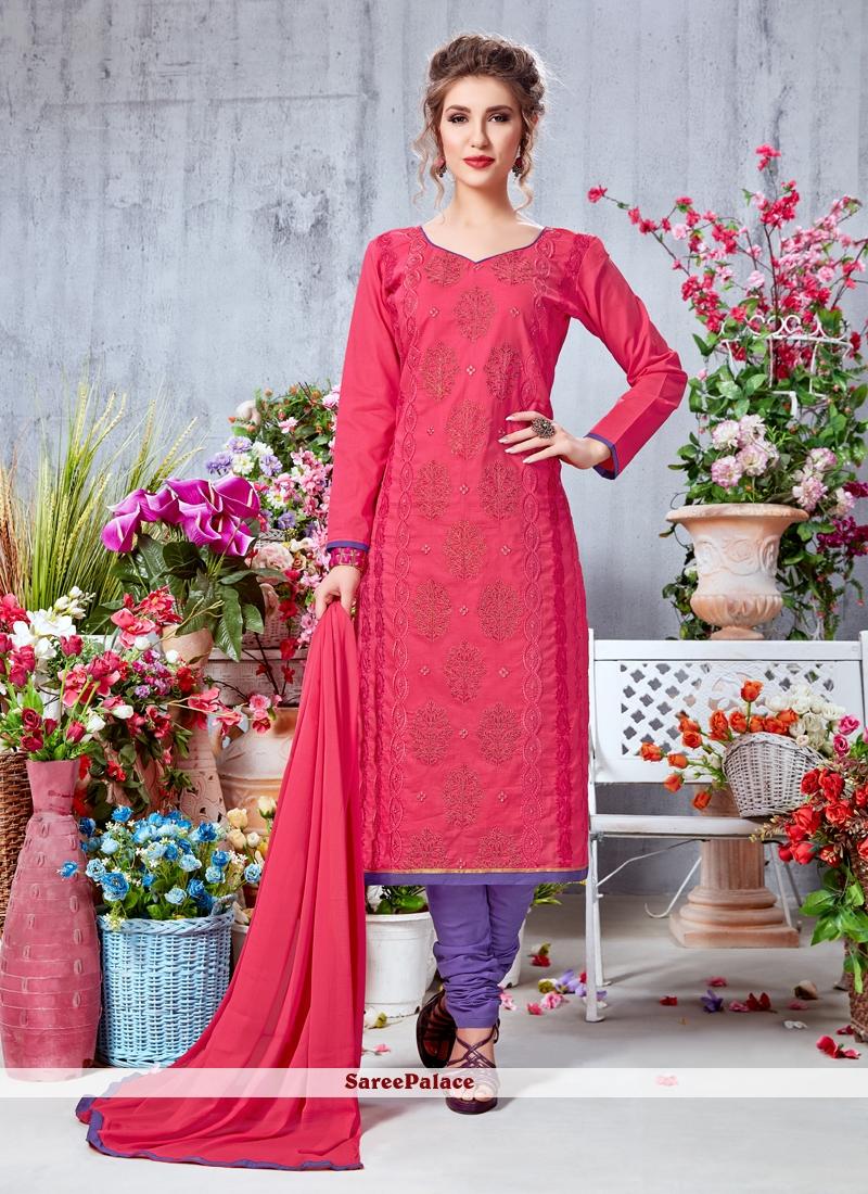 Georgette Embroidered Work Churidar Salwar Suit